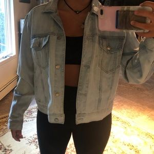 American eagle over sized jean jacket! Size LARGE!